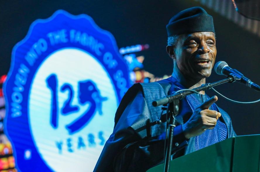 Osinbajo at 1st Bank125th Gala in Lagos 1
