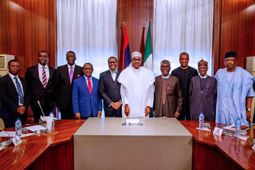 Buhari and AfDB Akinwunmi Adesina and others