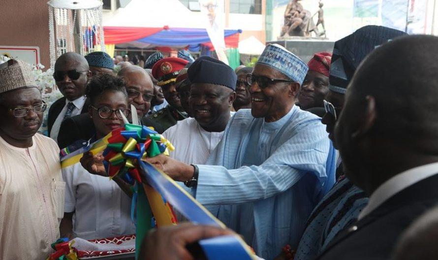 Buhari commissions Ayinke building