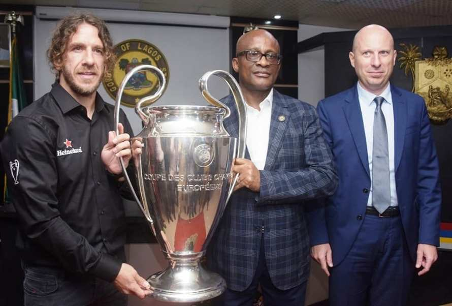 Lagos state receive EUFA Cup