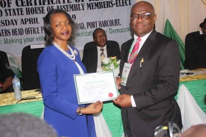 Wike receives certificate of return