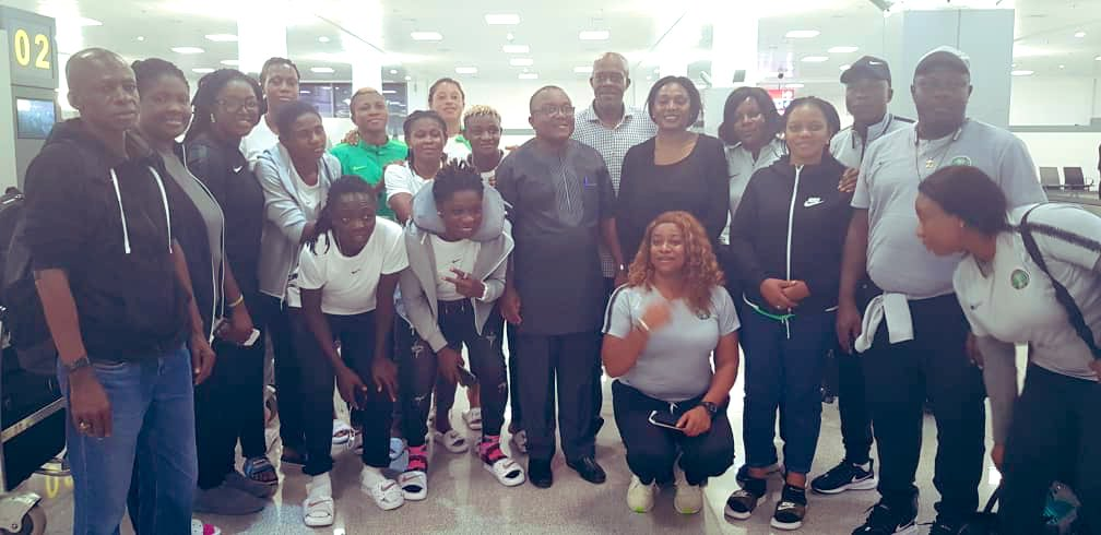 Super Falcons arrived in Abuja and report back at France embassy to fulfill condition for the issuance of visa