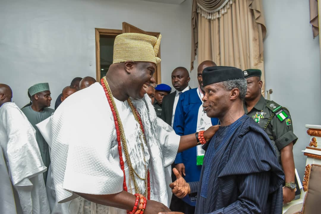 Osinbajo, Ooni of Ife meet in Aso Rock