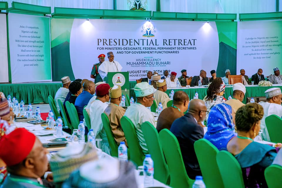 Incoming cabinet concludes day 1 of Presidential retreat