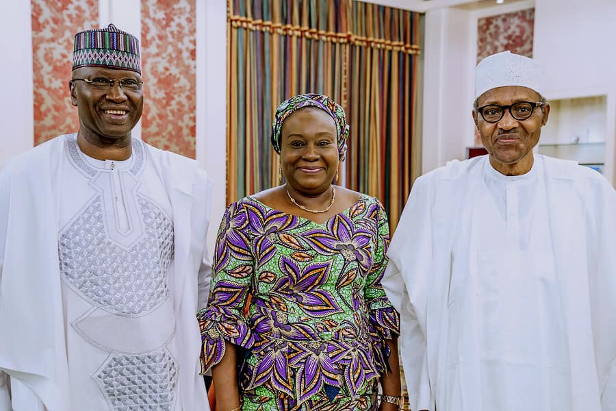Buhari meets Ag. Head of Civil Service,Folashade Yemi-Esan