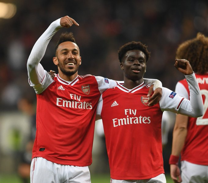 Frankfurt 0: 3 Arsenal: Saka Enters History Books After Scoring For Gunners