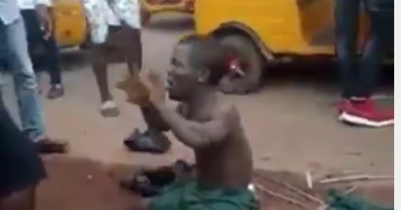 Dwarf beaten mercilessly over missing penis after he shook hands with a man in Enugu
