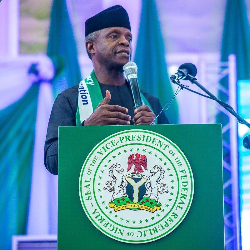 We can't afford to fail Nigerians- Osinbajo