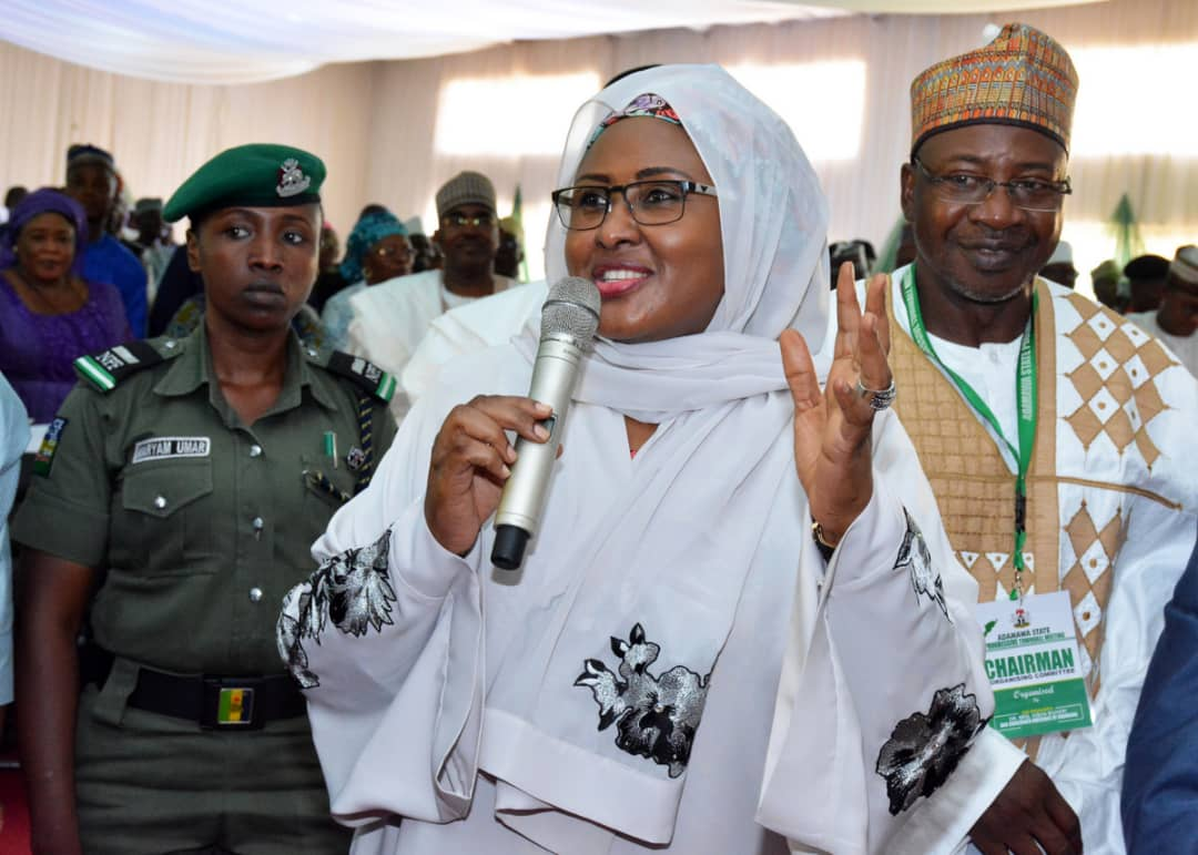 Aisha Buhari holds prayer session in Aso Rock