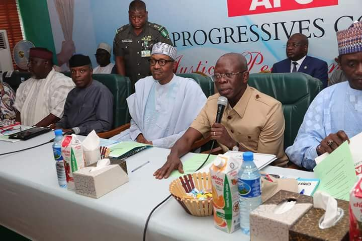 Buhari, APC Caucus meet in Aso Rock