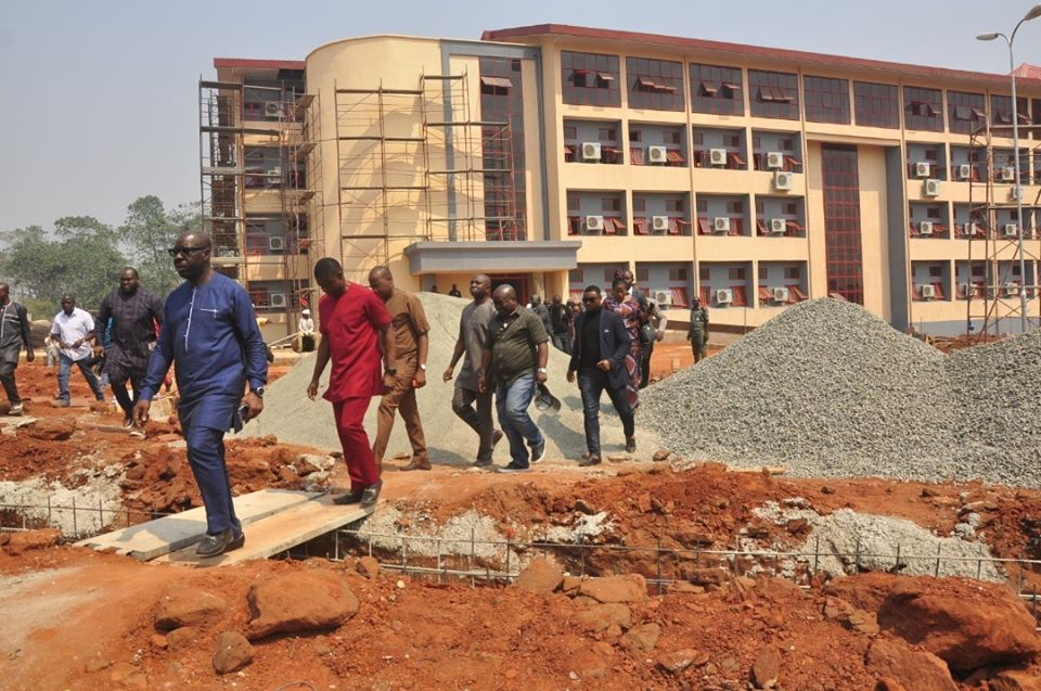 Obaseki inspects projects, commits to repositioning Ambrose Alli Varsity