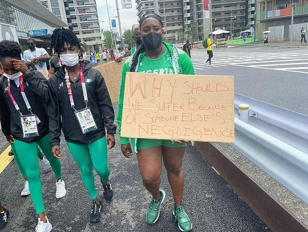 Olympics: Disqualified Nigerian athletes protest in Tokyo